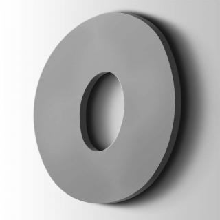 Kunststof Cijfer 0 Grobold Acrylaat 7040 Window Grey