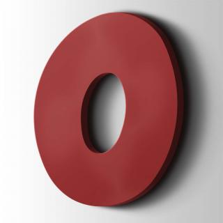 Kunststof Cijfer 0 Grobold Acrylaat 3001 Signal Red