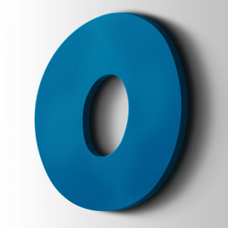 Kunststof Cijfer 0 Grobold Acrylaat 5015 Sky Blue