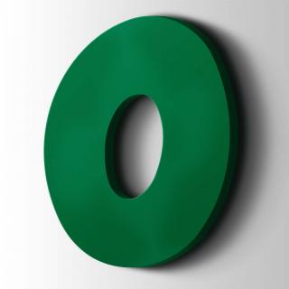 Kunststof Cijfer 0 Grobold Acrylaat 6029 Mint Green
