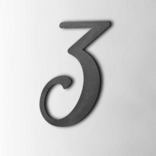 Houten Cijfer 3 Back To Black MDF Zwart