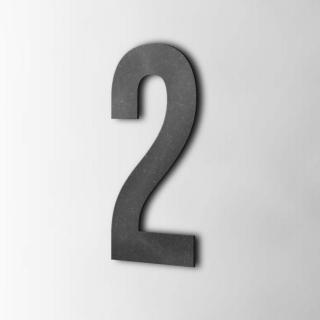 Houten Cijfer 2 Bebas Neue MDF Zwart
