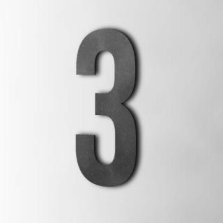 Houten Cijfer 3 Bebas Neue MDF Zwart