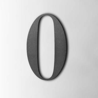 Houten Cijfer 0 Bodoni MDF Zwart