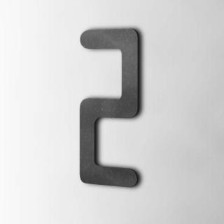 Houten Cijfer 2 Checkbook MDF Zwart
