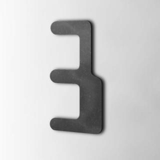 Houten Cijfer 3 Checkbook MDF Zwart
