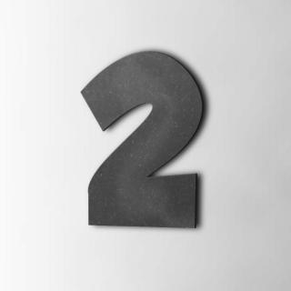 Houten Cijfer 2 Grobold MDF Zwart