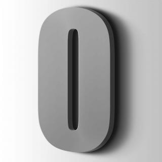 Kunststof Cijfer 0 Impact Acrylaat 7040 Window Grey