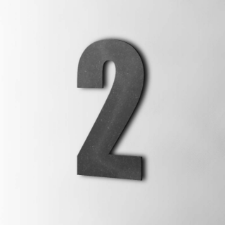 Houten Cijfer 2 Impact MDF Zwart