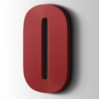 Kunststof Cijfer 0 Impact Acrylaat 3001 Signal Red