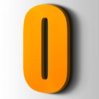 Kunststof Cijfer 0 Impact Acrylaat 1003 Signal Yellow