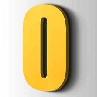 Kunststof Cijfer 0 Impact Acrylaat 1018 Zinc Yellow