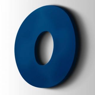 Kunststof Cijfer 0 Grobold Acrylaat 5002 Ultramarine Blue