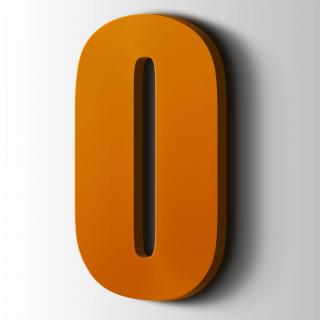 Kunststof Cijfer 0 Impact Acrylaat 2004 Pure Orange