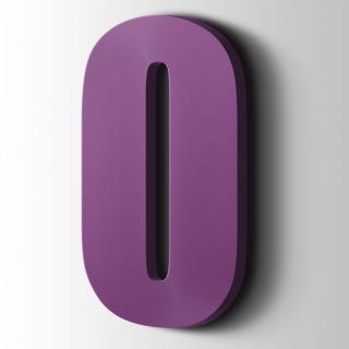 Kunststof Cijfer 0 Impact Acrylaat 4008 Signal Violet