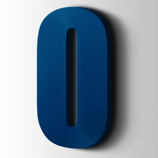 Kunststof Cijfer 0 Impact Acrylaat 5002 Ultramarine Blue