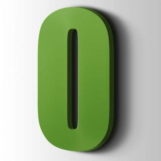 Kunststof Cijfer 0 Impact Acrylaat 6018 Yellow Green