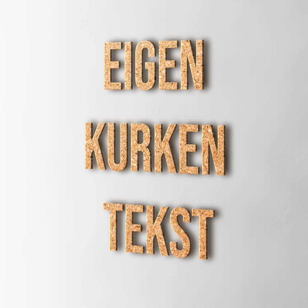 Bedenk en ontwerp je eigen kurken tekst