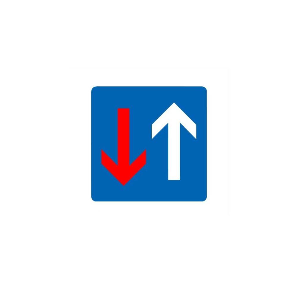 Bestuurders uit tegengestelde richting Sticker