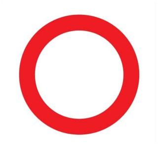 Gesloten voor beide richtingen Sticker