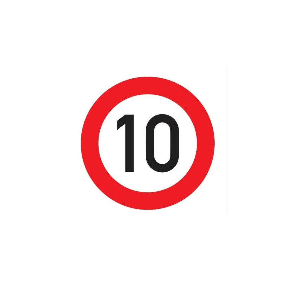 Maximumsnelheid 10 km Sticker