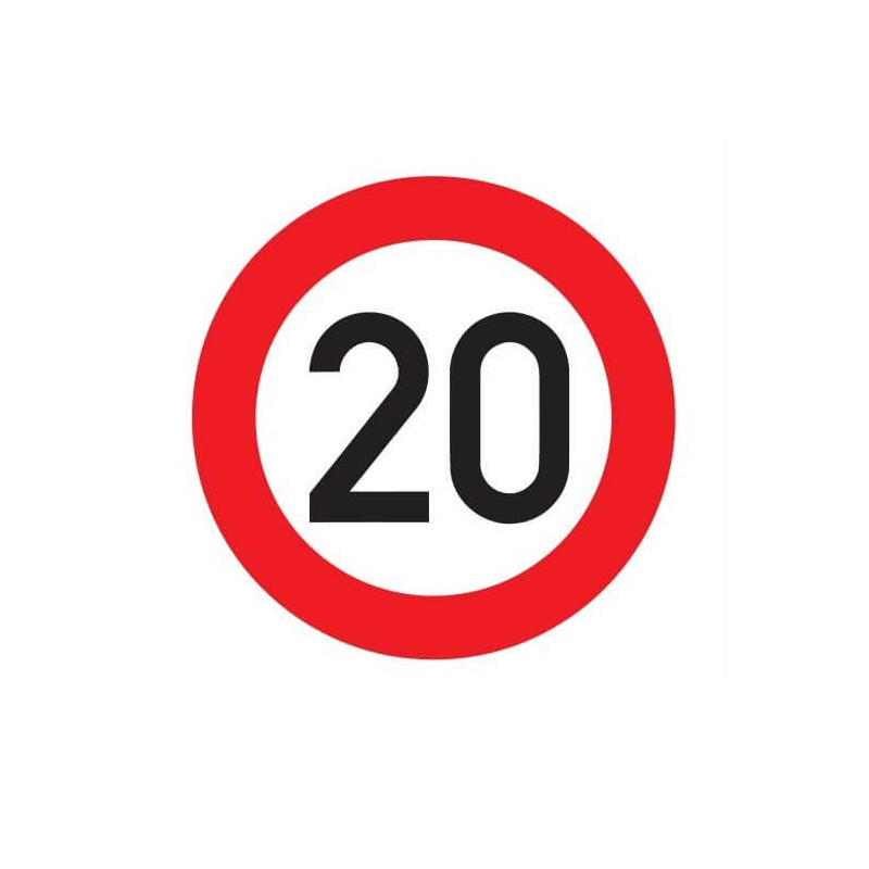 Maximumsnelheid 20 km Sticker