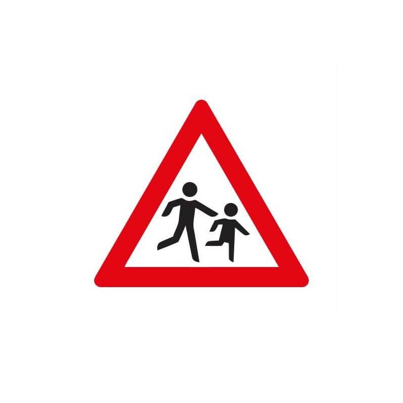 Pas op kinderen Sticker