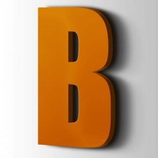 Kunststof Letter B Impact Acrylaat 2004 Pure Orange