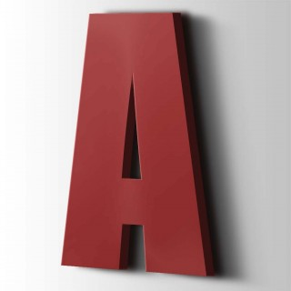 Kunststof Letter A Impact Acrylaat 3001 Signal Red