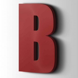 Kunststof Letter B Impact Acrylaat 3001 Signal Red