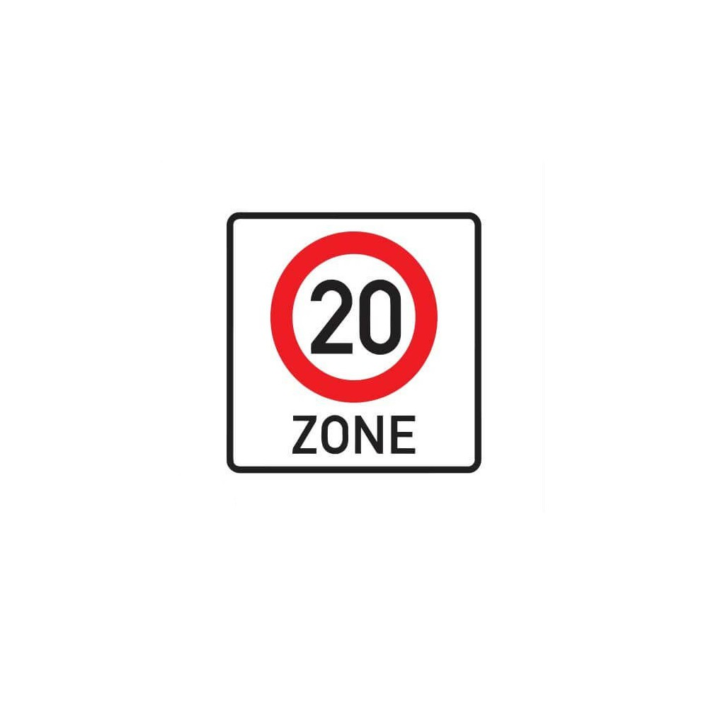 20 km zone Sticker