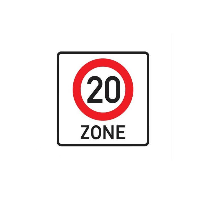 20 km zone Sticker