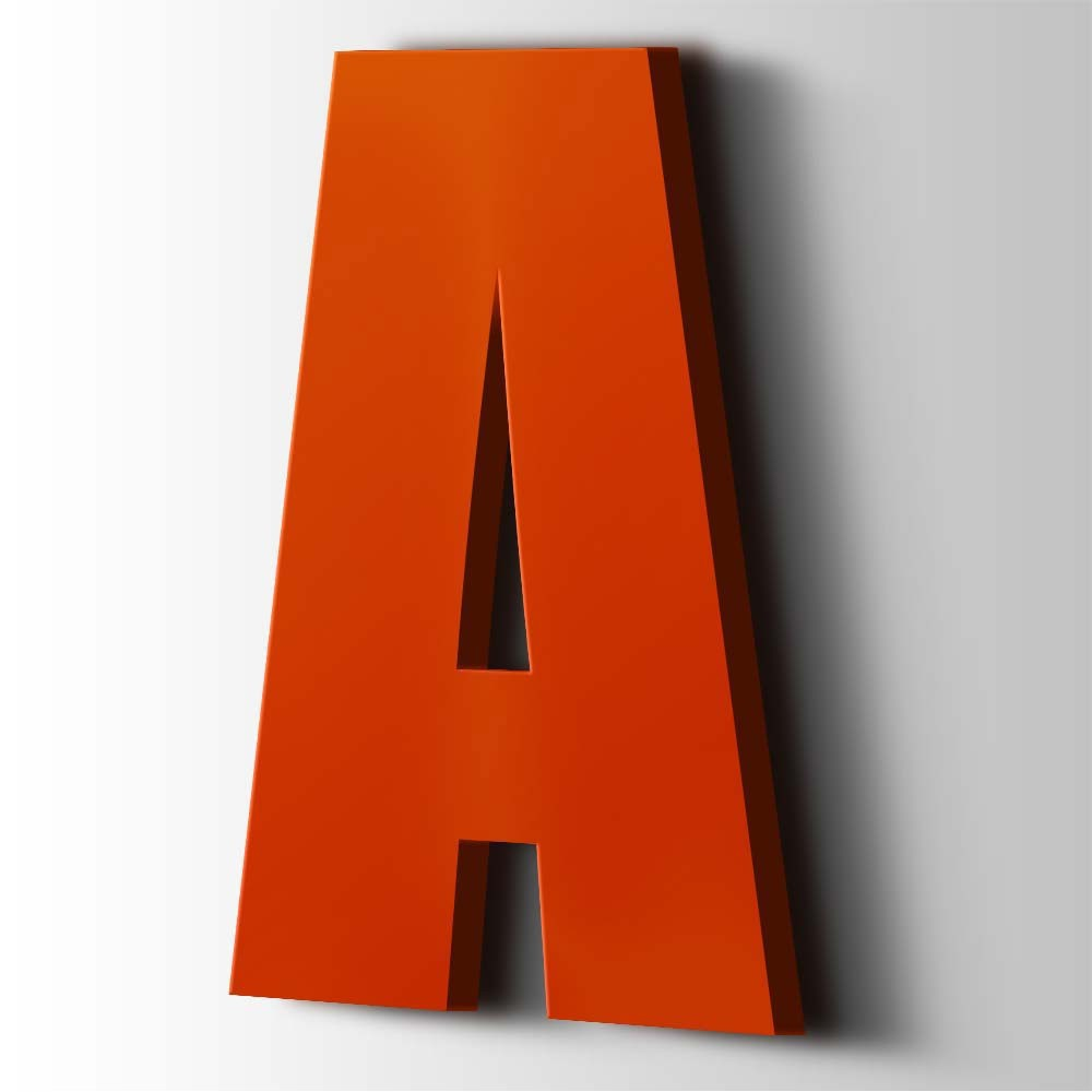 Kunststof Letter A Impact Acrylaat 3020 Traffic Red