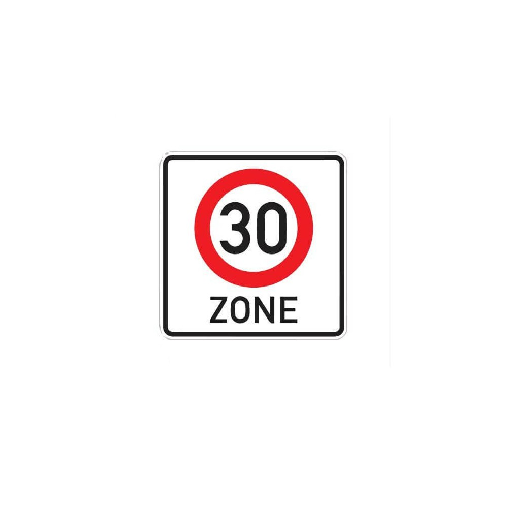 30 km zone Sticker