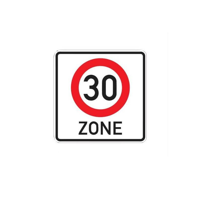 30 km zone Sticker