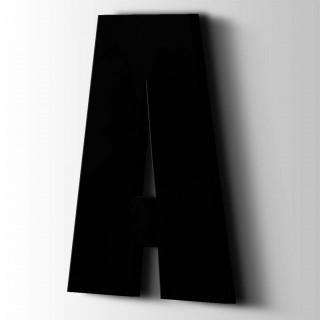 Kunststof Letter A Impact Acrylaat 9005 Jet Black