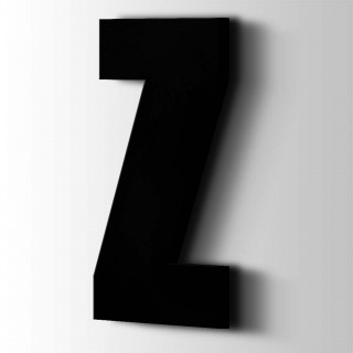 Kunststof Letter Z Impact Acrylaat 9005 Jet Black