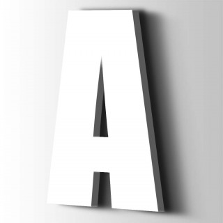 Kunststof Letter A Impact Acrylaat 9016 Traffic white