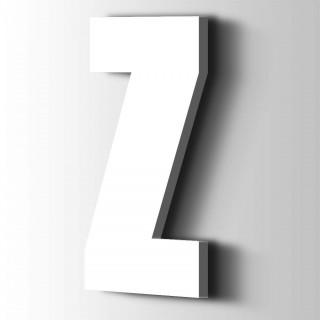 Kunststof Letter Z Impact Acrylaat 9016 Traffic white