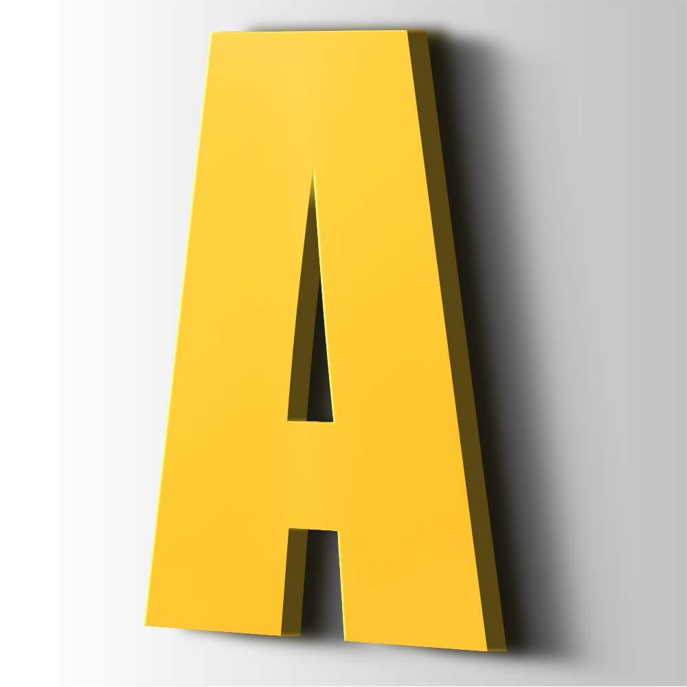 Kunststof Letter A Impact Acrylaat 1018 Zinc Yellow