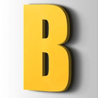 Kunststof Letter B Impact Acrylaat 1018 Zinc Yellow