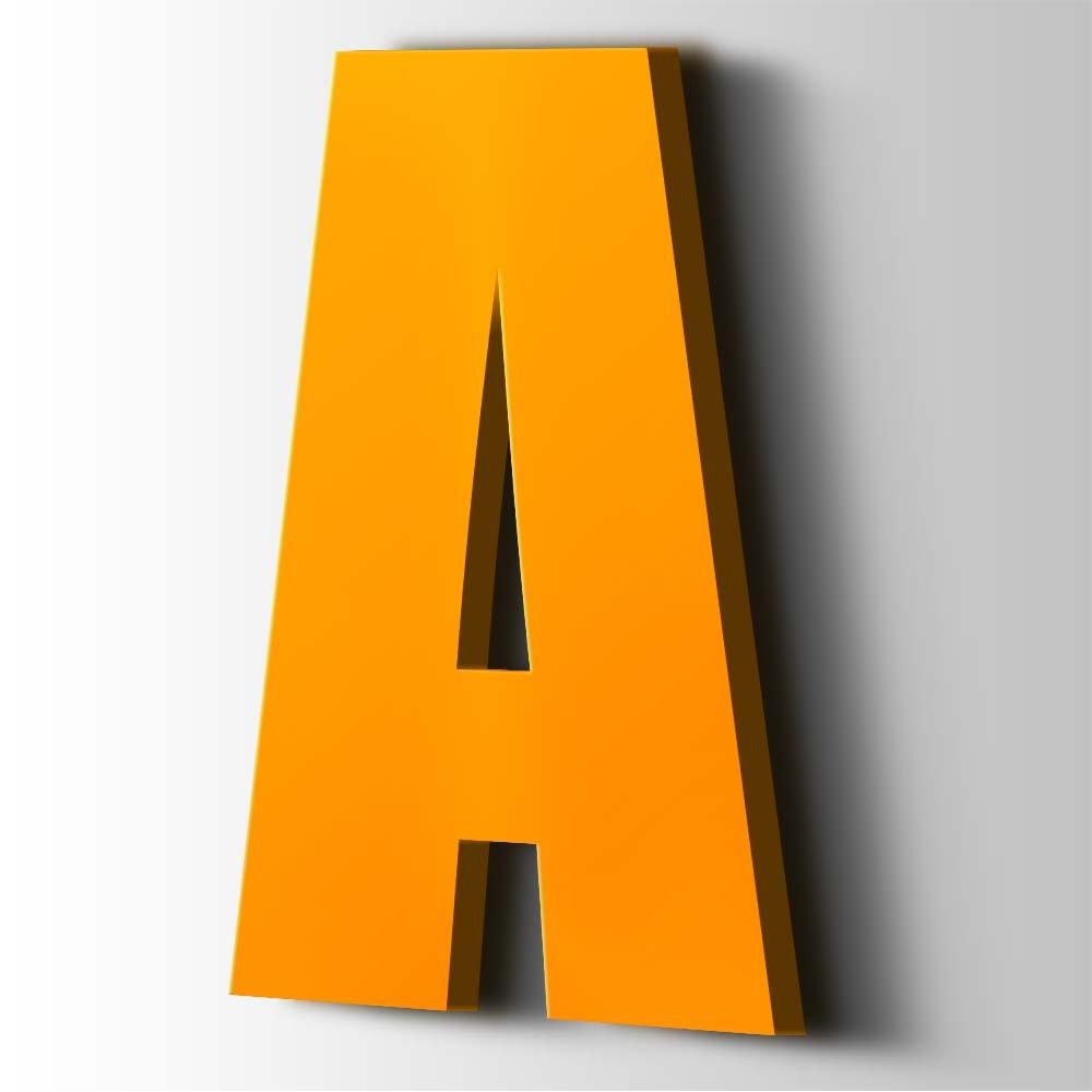 Kunststof Letter A Impact Acrylaat 1003 Signal Yellow