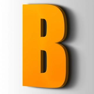 Kunststof Letter B Impact Acrylaat 1003 Signal Yellow