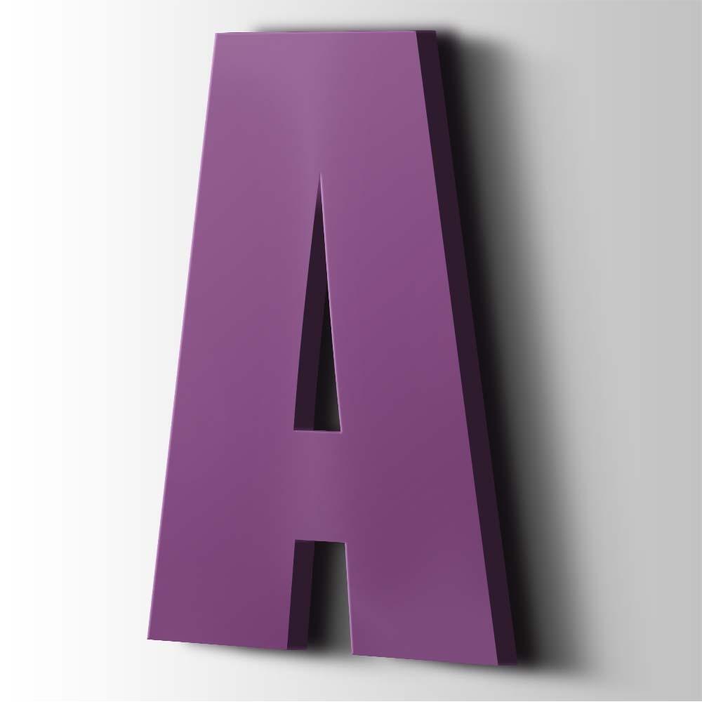 Kunststof Letter A Impact Acrylaat 4008 Signal Violet