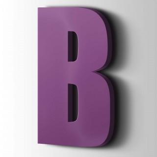 Kunststof Letter B Impact Acrylaat 4008 Signal Violet
