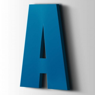 Kunststof Letter A Impact Acrylaat 5015 Sky Blue