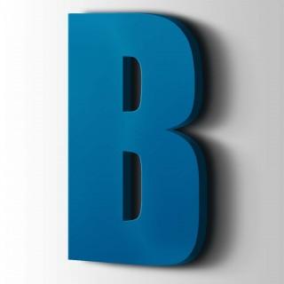 Kunststof Letter B Impact Acrylaat 5015 Sky Blue