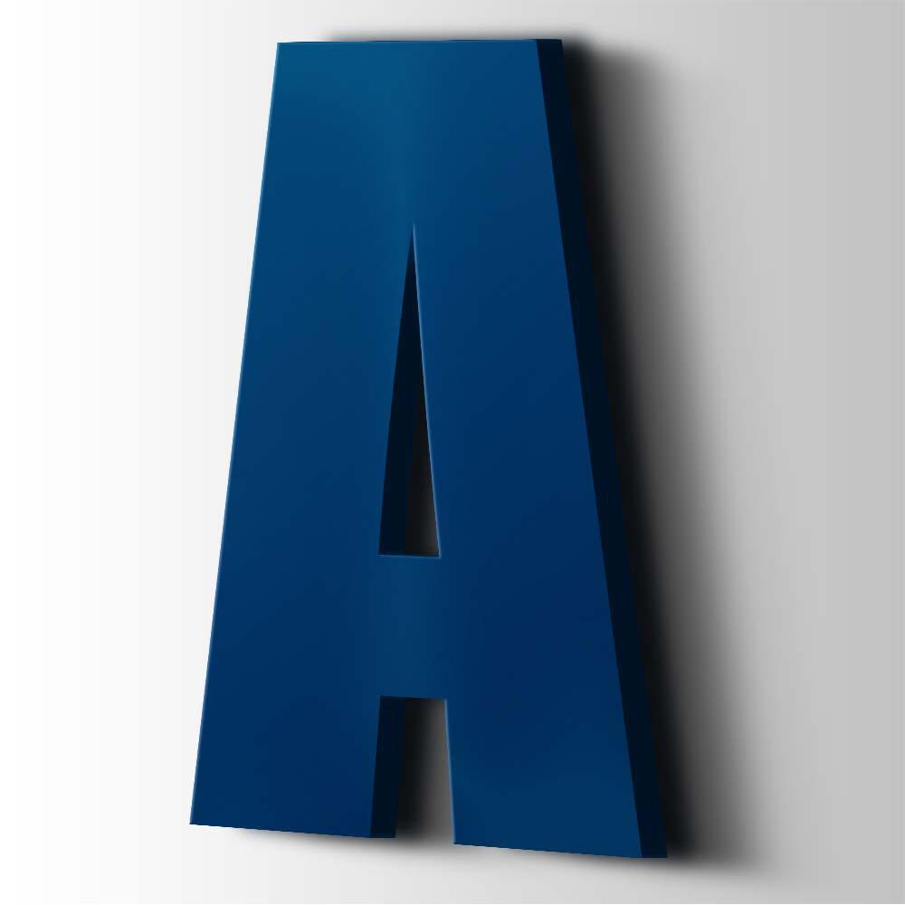 Kunststof Letter A Impact Acrylaat 5002 Ultramarine Blue