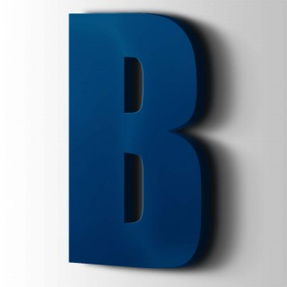 Kunststof Letter B Impact Acrylaat 5002 Ultramarine Blue