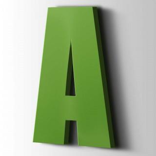 Kunststof Letter A Impact Acrylaat 6018 Yellow Green